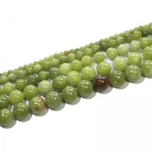 """Karoliukai """"Žalioji elegancija"""" (žaliasis jadas)"""