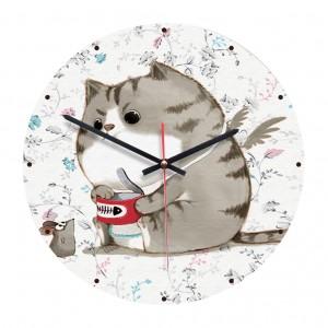 """Sieninis laikrodis """"Katinas ir pelė"""" (28 cm)"""