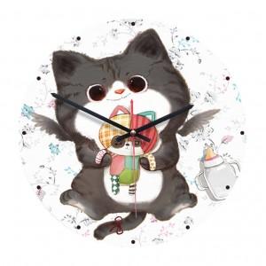 """Sieninis laikrodis """"Katinas mažylis"""" (28 cm)"""
