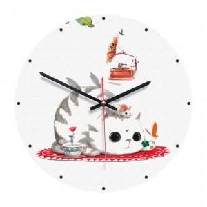 """Sieninis laikrodis """"Katytė ir pelytė"""" (28 cm)"""