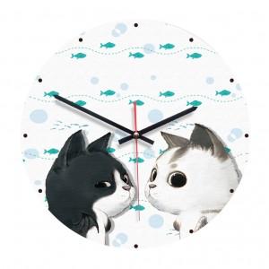 """Sieninis laikrodis """"Šiauriniai katinai"""" (28 cm)"""