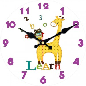 """Sieninis laikrodis """"Žirafa ir pelėda"""""""