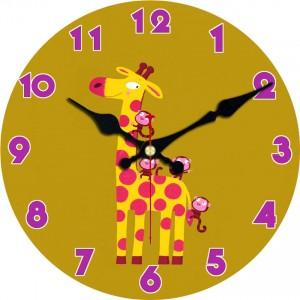 """Sieninis laikrodis """"Žirafa ir bezdžionės"""""""