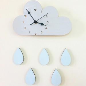 """Sieninis laikrodis """"Debesėlis ir lietus 2"""""""