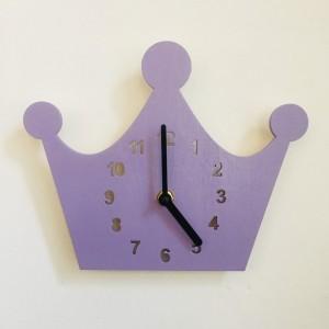 """Sieninis laikrodis """"Violetinė karūna"""" (24 cm)"""