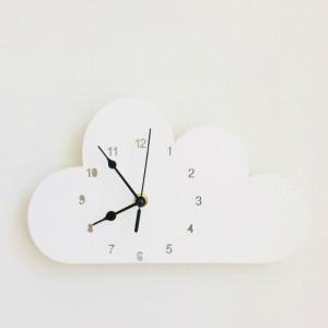 """Sieninis laikrodis """"Baltasis debesėlis"""" (24 cm)"""