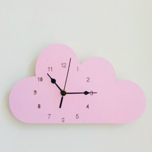 """Sieninis laikrodis """"Rožinis debesėlis"""" (24 cm)"""