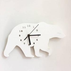 """Sieninis laikrodis """"Baltoji meška"""" (30 x 18 cm)"""