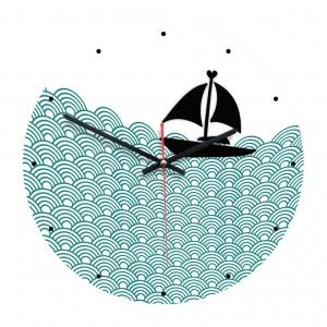 """Sieninis laikrodis """"Plaukia laivelis"""" (28 cm)"""