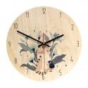 """Sieninis laikrodis """"Katinas ir mergaitė"""" (28 cm)"""