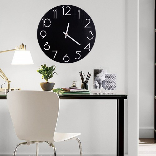 """Sieninis laikrodis """"Juodas stilius 2"""""""