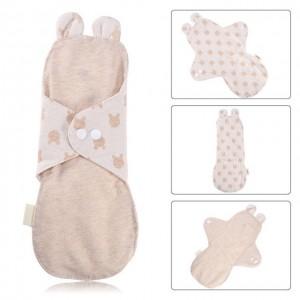 """Daugkartinio naudojimo higieniniai įklotai """"Organic Cotton 3"""" (25 cm)"""