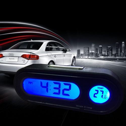 """Laikrodis su termometru automobiliui """"Naktinis stilius"""""""
