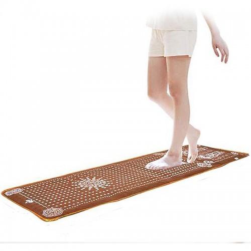 """Masažinis kaistantis turmalino kilimėlis """"Saulės kelias"""" (energetiniam pėdų masažui ir atsipalaidavimui)"""