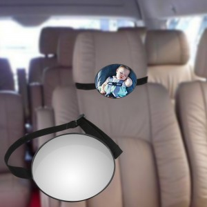 """Panoraminis veidrodėlis automobiliui """"Tikras smagumėlis 4"""" (360° reguliuojamas, 14.7 x 5.6 cm)"""
