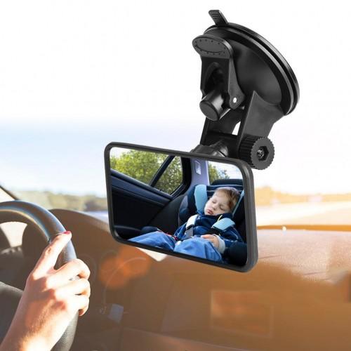 """Veidrodėlis automobiliui """"Tikras smagumėlis 8"""" (360° reguliuojamas, 12 cm x 6 cm)"""