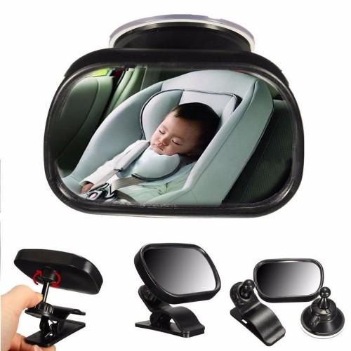 """Veidrodėlis automobiliui """"Tikras smagumėlis 9"""" (360° reguliuojamas,  8.6 x 5.6 cm)"""