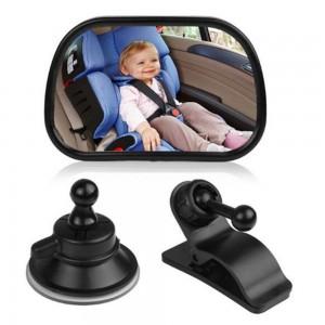 """Veidrodėlis automobiliui """"Tikras smagumėlis 10"""" (360° reguliuojamas, 17 cm x 18 cm)"""