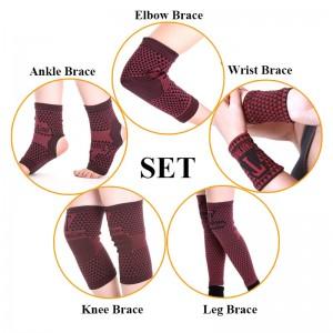 """Magnetinės rankų ir kojų juostos """"Močiutės mezginiai"""" (turmalino pagrindu, magnetinė teapija, patogūs devėti, lankstūs, šilti)"""