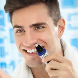 """Elektroninė nosies plaukučių kirpimo mašinėlė """"Drėgnumo malonumas"""" (vyrams, lengva, USB, kokybiškas variklis, ergonomiška)"""