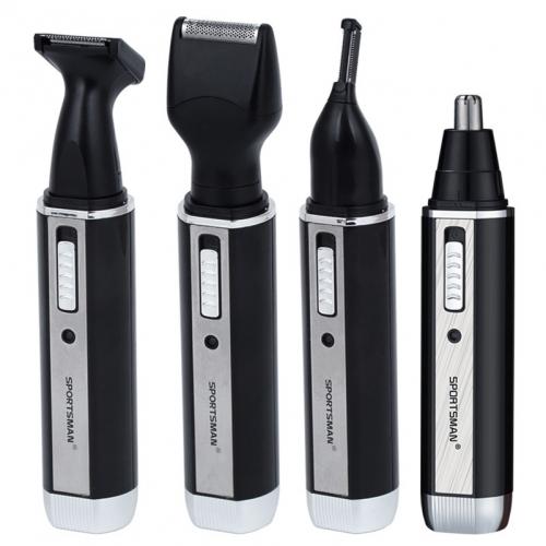 """Elektroninis plaukų skustuvas """"Sportiškas stileiva"""" (vyrams, nosies, barzdos, antakių plaukų šalinimui, lengvas, pakraunamas)"""