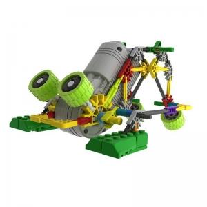 """Elektronis robotas - surenkamas vaikiškas konstruktorius """"Robotų pasaulis"""" (vaiko lavinimas, lengvai surenkamas, 4 robotai)"""