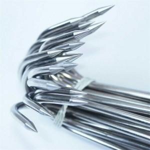 """Plieniniai kabliai griliui """"Aukščiausia klasė"""" (5 mm 36 cm, 5 vnt.)"""