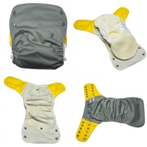 Plaunami kūdikių vystyklai-sauskelnės (4 vnt., bambuko pluoštas, 5-12 kg, 0-12 mėn.)