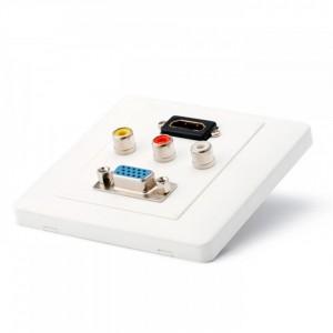 HDMI, VGA, 3 AV jungčių plokštė
