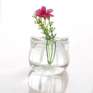 """Pakabinama stiklinė vaza """"Katinukas"""""""