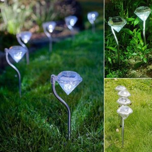 """Saulės energija įkraunamas šviestuvas """"Nakties deimantas"""""""