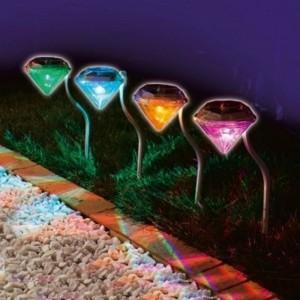 """Saulės energija įkraunamas šviestuvas """"Nakties deimantas 4"""""""
