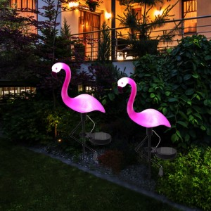 """Saulės energija įkraunamas šviestuvas """"Puikusis flamingas"""""""