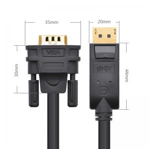 Display Port į VGA kabelis (aukštos kokybės)