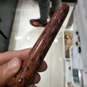 """Raudonojo obsidiano masažinė lazdelė """"Intimate Pro"""" (10 cm)"""
