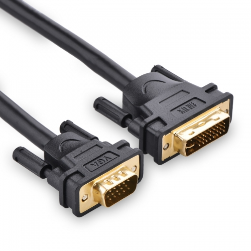 DVI į VGA kabelis (2 m, aukštos kokybės)