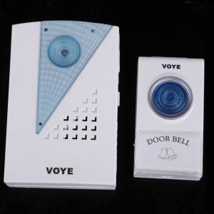 Bevielis 38 melodijų durų skambutis 315 MHz