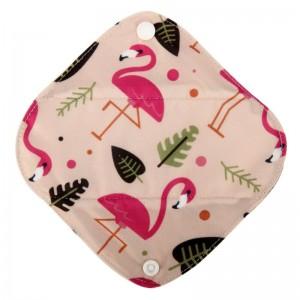 """Daugkartinio naudojimo higieniniai įklotai """"Puikieji flamingai"""" (5 vnt.)"""