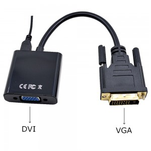 DVI-D į VGA adapteris (USB maitinimas)