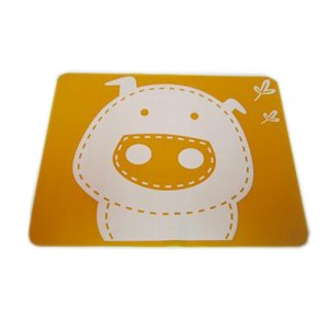 """Vaikiškas silikoninis pietų padėkliukas """"Kiauliukas 6"""" (eko draugiškas)"""