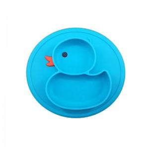 """Vaikiškas silikoninis pietų padėkliukas """"Puikusis ančiukas 4"""" (eko draugiškas)"""