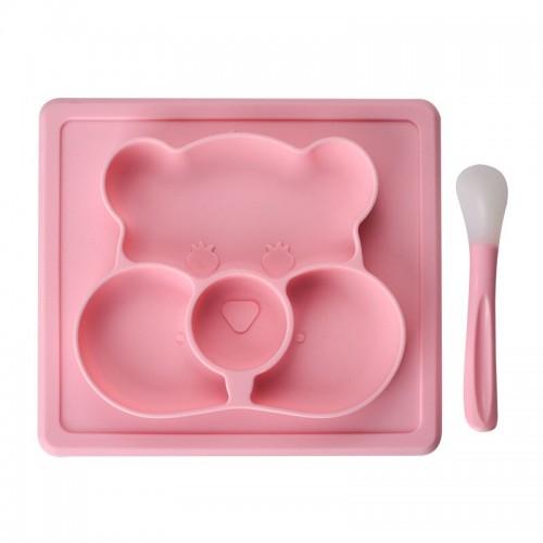 """Vaikiškas silikoninis pietų padėkliukas """"Koalos stilius 3"""" (eko draugiškas)"""