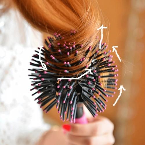 """Sferinis 3D plaukų šepetys """"Aukščiausia klasė"""""""