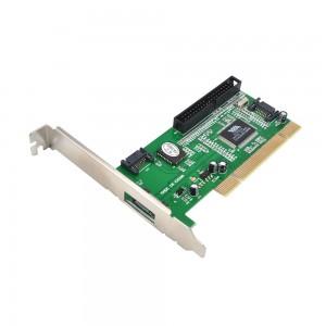 3 SATA ir 1 IDE jungtys į PCI