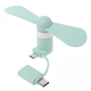"""Nešiojamas ventiliatorius """"Telefonui 4"""" (Type C ir Micro USB)"""