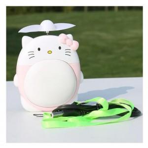 """Elektroninis įkraunamas nešiojamas ventiliatorius """"Puikioji katytė 3"""""""