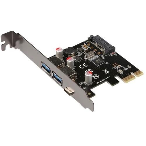 """PCI Express į USB 3.0 ir 3.1 plokštė """"Black Edition Pro GT 2"""" (išorinės USB jungtys)"""