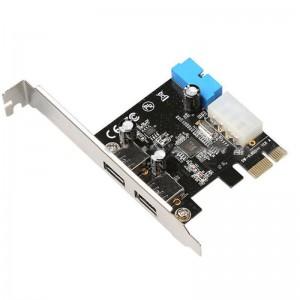 """PCI Express į USB 3.0 plokštė """"Black Edition Pro GT 3"""" (išorinės USB jungtys)"""