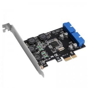 """PCI Express į USB 3.0 plokštė """"Black Edition Pro Dual"""" (vidinės USB jungtys)"""
