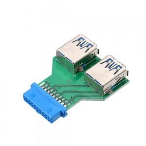 "USB 3.0 į 2 USB 3.0 keitiklis ""Blue Edition Pro 4"""